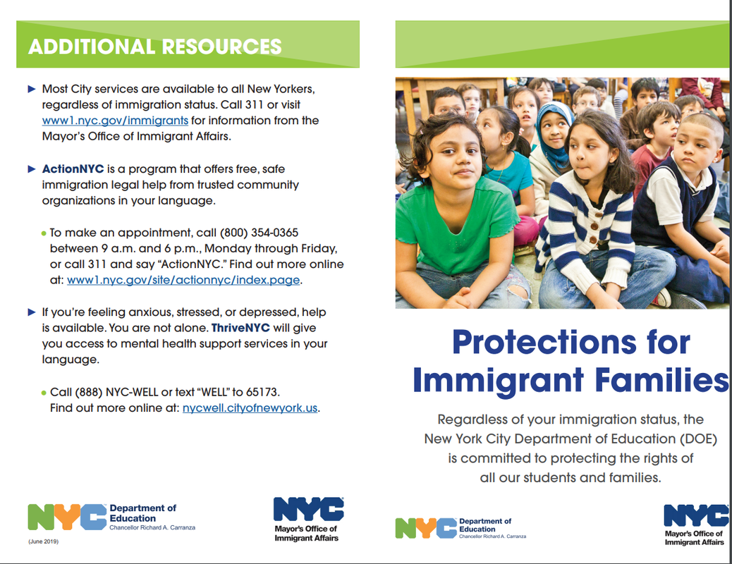 protection for immigrant families flyer